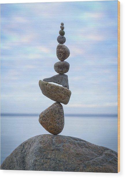 Balancing Art #24 Wood Print