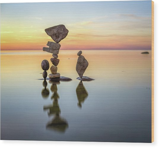 Balancing Art #26 Wood Print