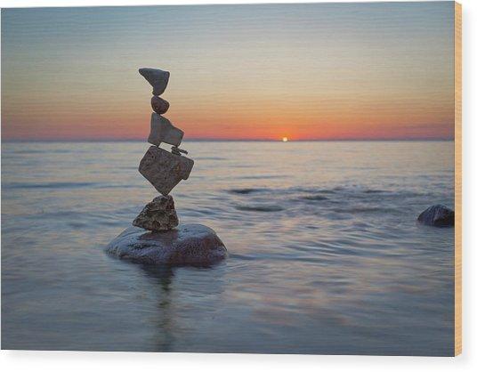 Balancing Art #27 Wood Print