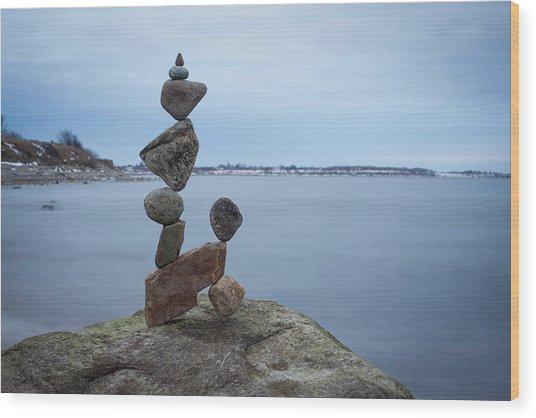 Balancing Art #28 Wood Print