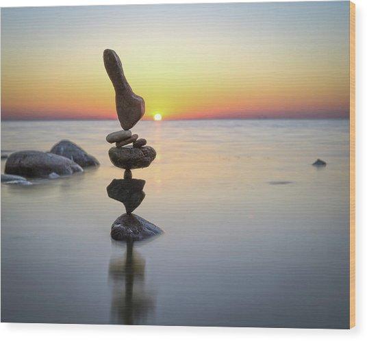 Balancing Art #3 Wood Print