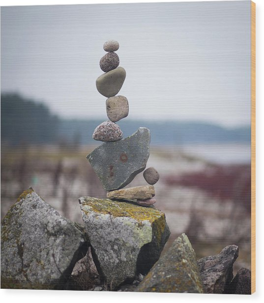Balancing Art #30 Wood Print
