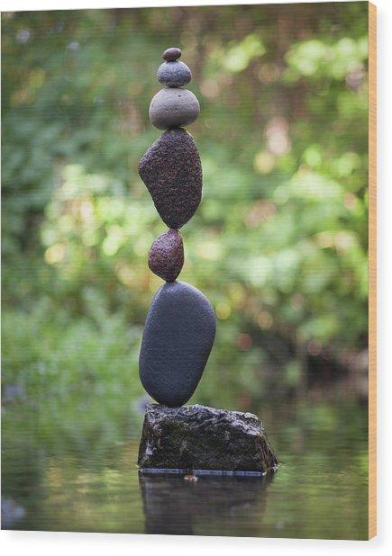 Balancing Art #37 Wood Print