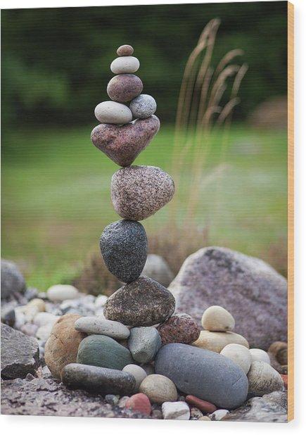 Balancing Art #39 Wood Print