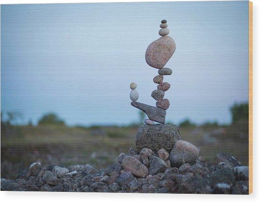 Balancing Art #43 Wood Print