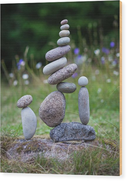 Balancing Art #44 Wood Print