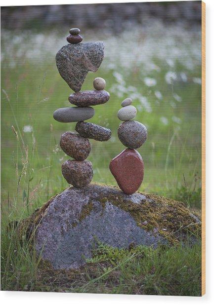 Balancing Art #45 Wood Print