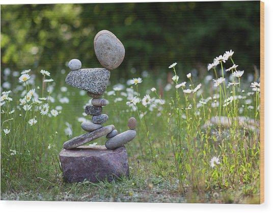 Balancing Art #46 Wood Print