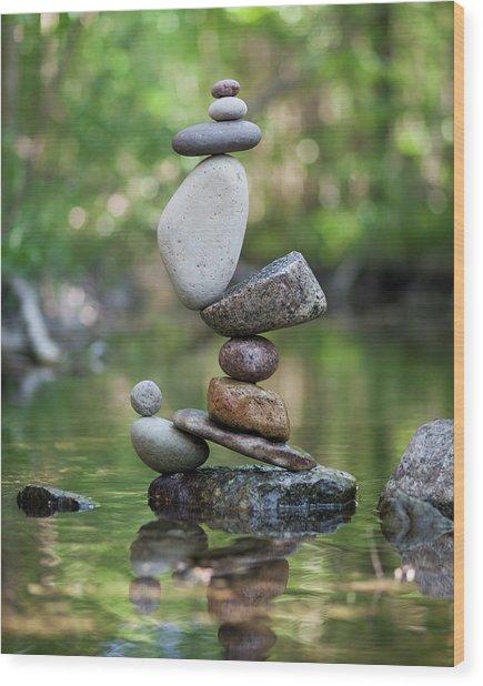 Balancing Art #47 Wood Print
