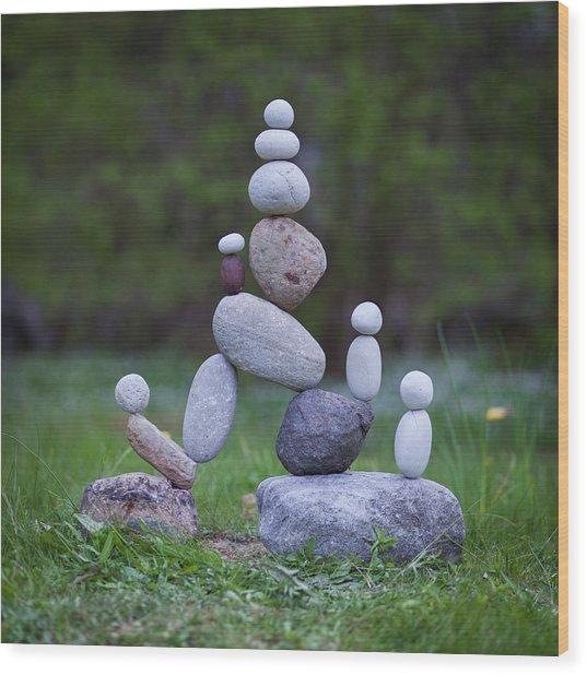 Balancing Art #49 Wood Print