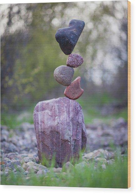 Balancing Art #50 Wood Print
