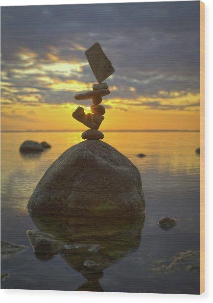 Balancing Art #52 Wood Print