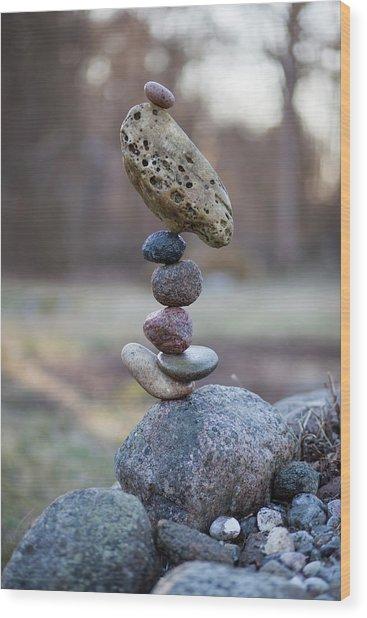 Balancing Art #53 Wood Print