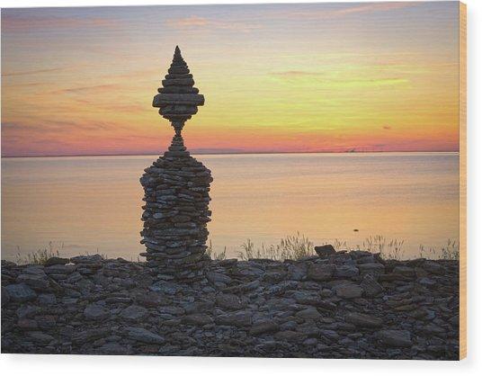Balancing Art #57 Wood Print