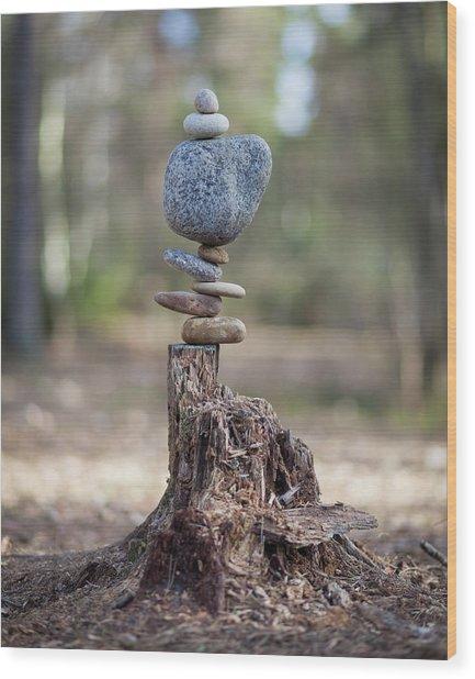 Balancing Art #58 Wood Print