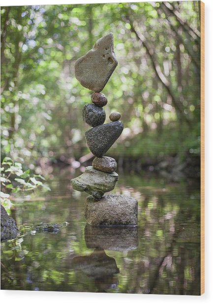Balancing Art #61 Wood Print
