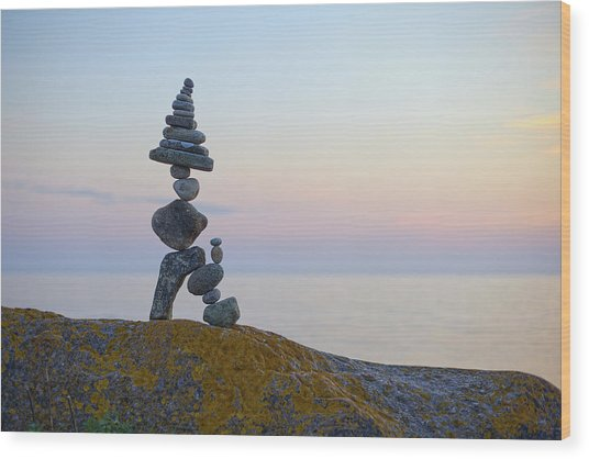 Balancing Art #64 Wood Print