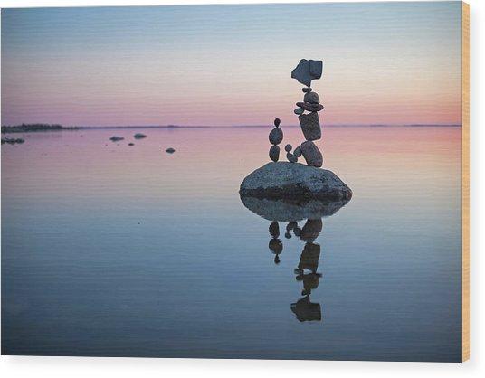 Balancing Art #65 Wood Print