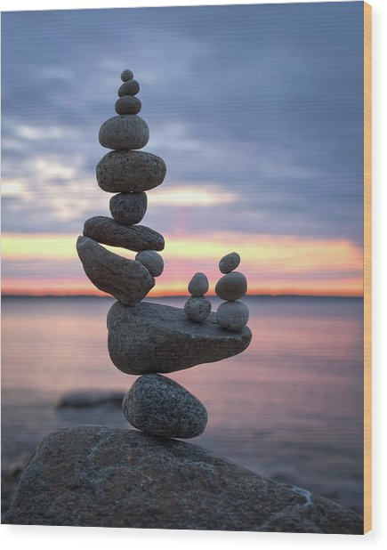 Balancing Art #67 Wood Print