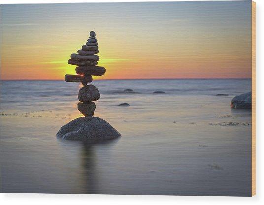 Balancing Art #8 Wood Print