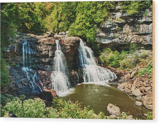 Balckwater Falls - Wide View Wood Print