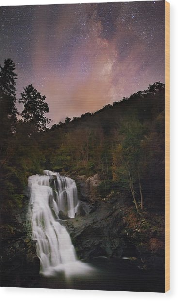 Bald River Falls Milky Way Wood Print