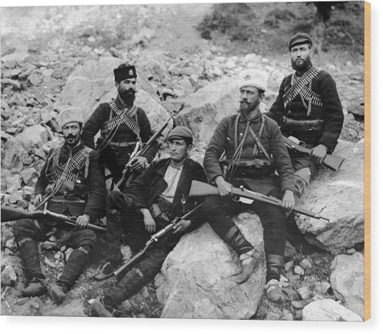 Balkan Soldiers Wood Print by Topical Press Agency