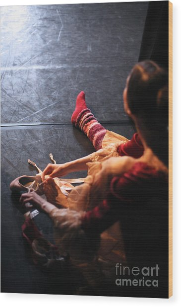 Ballet Behind The Scenes Wood Print