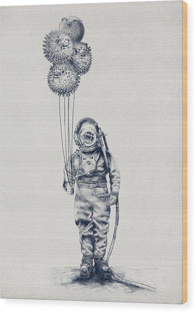 Balloon Fish Option Wood Print