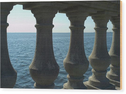 Balustrade Wood Print by Tbd