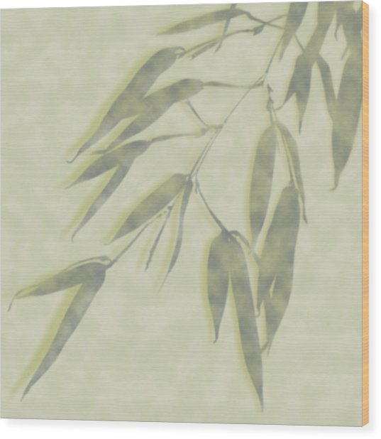 Bamboo Leaves 0580c Wood Print