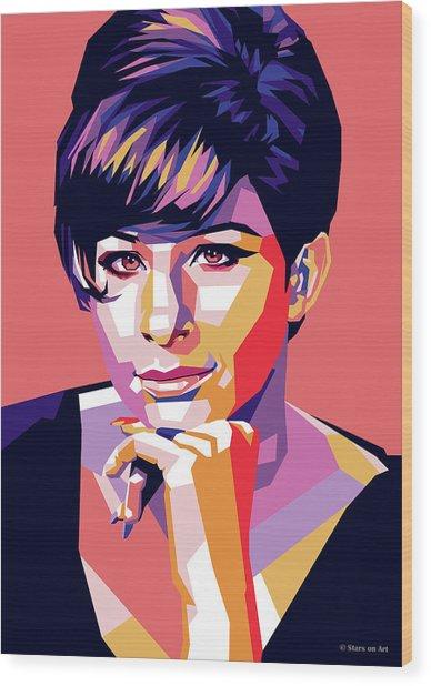 Barbra Streisand Pop Art Wood Print