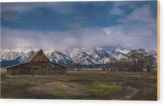 Barn At Mormon Row Wood Print