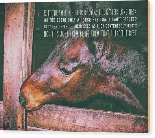 Barn Bay Quote Wood Print