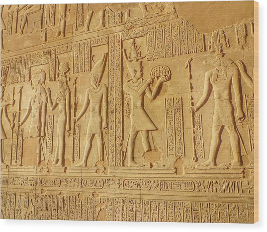 Bas Relief Figures And Hieroglyphics On Wood Print by Fred Bahurlet / Eyeem