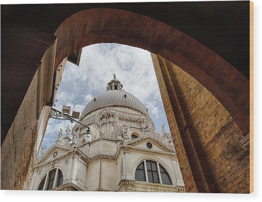 Wood Print featuring the photograph Basilica Di Santa Maria Della Salute Venice Italy by Nathan Bush