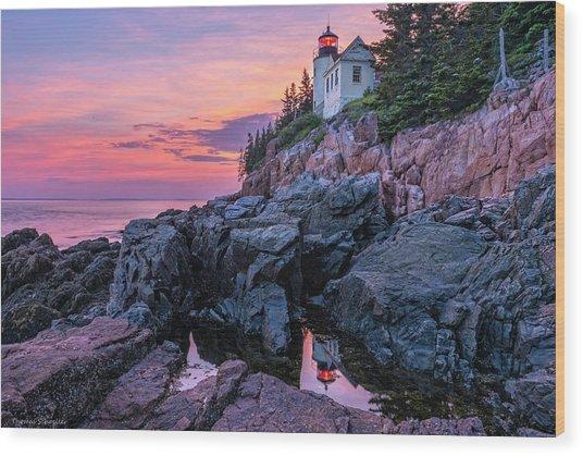 Bass Head Lighthouse - Acadia Wood Print
