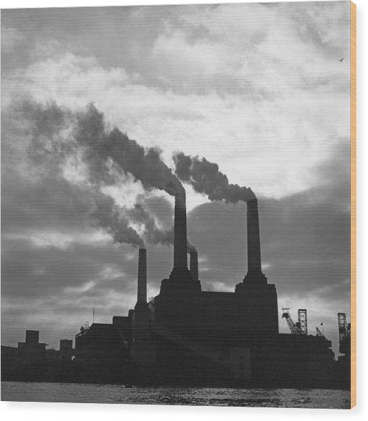 Battersea Power Station Wood Print by George Freston