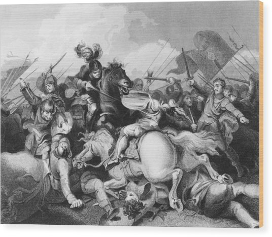 Battle Of Bosworth Field Wood Print by Hulton Archive