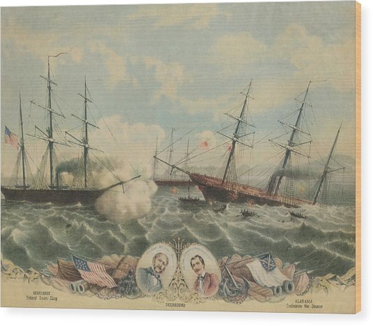 Battle Of Cherbourg Wood Print by Hulton Archive