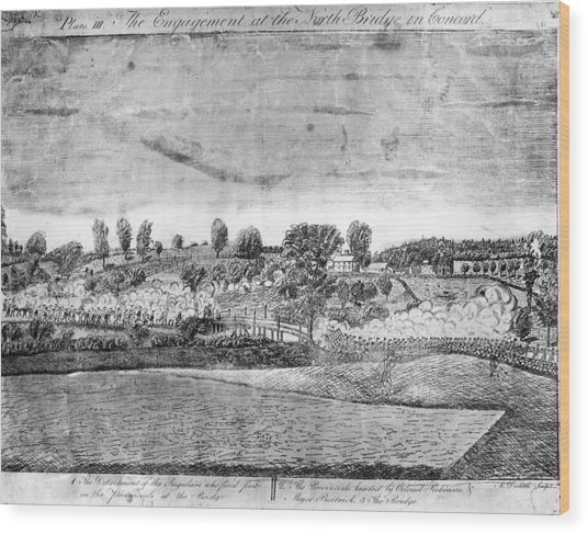 Battle Of Concord Wood Print by Fotosearch