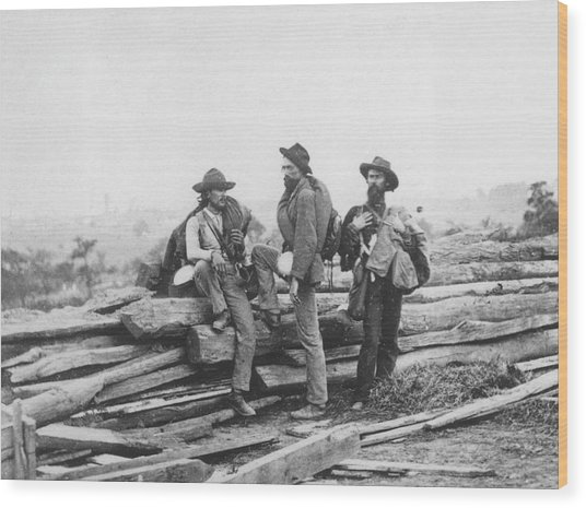 Battle Of Gettysburg Wood Print by Archive Photos