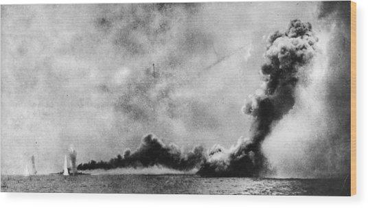 Battle Of Jutland Wood Print by Hulton Archive