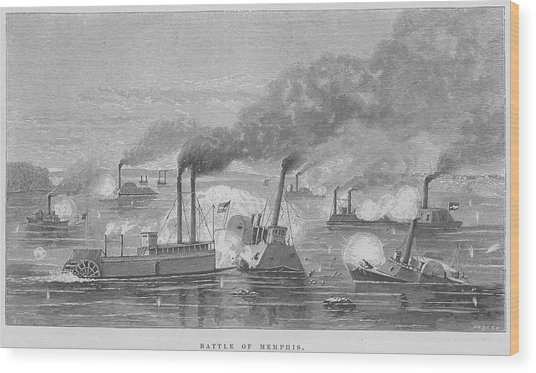 Battle Of Memphis Wood Print by Kean Collection