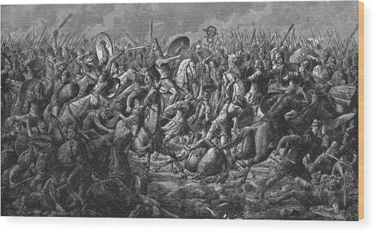 Battle Of Pharsalus Wood Print by Kean Collection