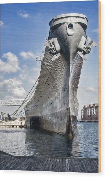 Battleship Uss Wisconsin Bb64 Wood Print