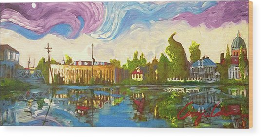 Bayou Saint John One Wood Print