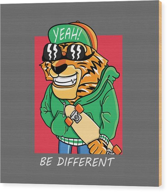 Be Different - Baby Room Nursery Art Poster Print Wood Print