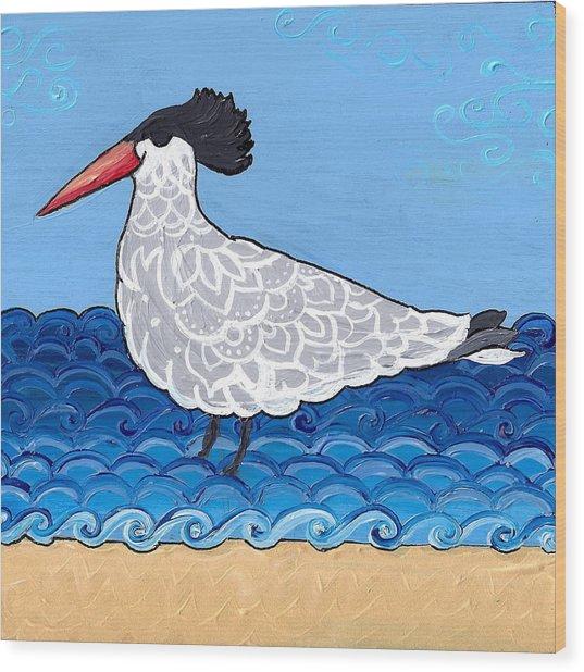 Beach Bird 3 Wood Print