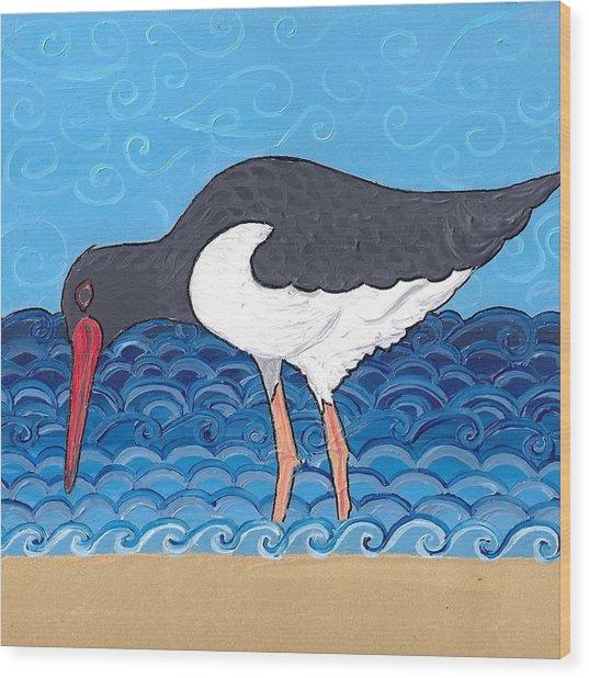 Beach Bird 4 Wood Print